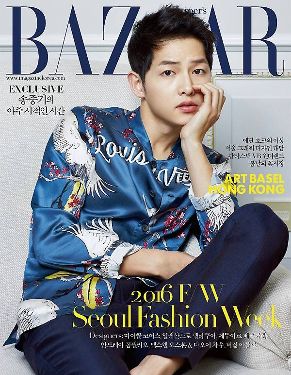 Song Joong Ki Pulls Off A Bright Embroidered Jacket