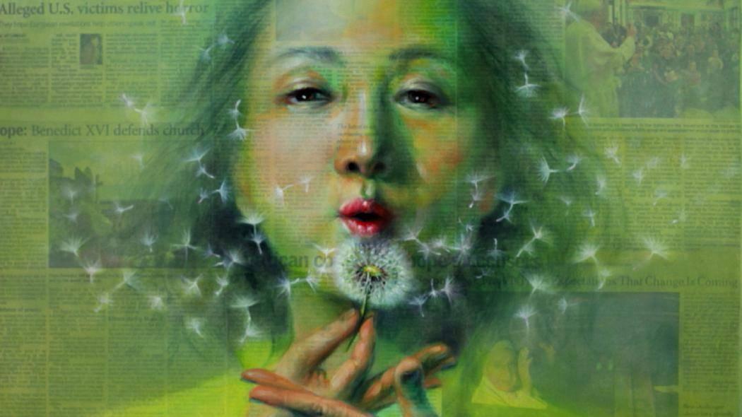 South Korean Artist Paints Positive Photos Over News