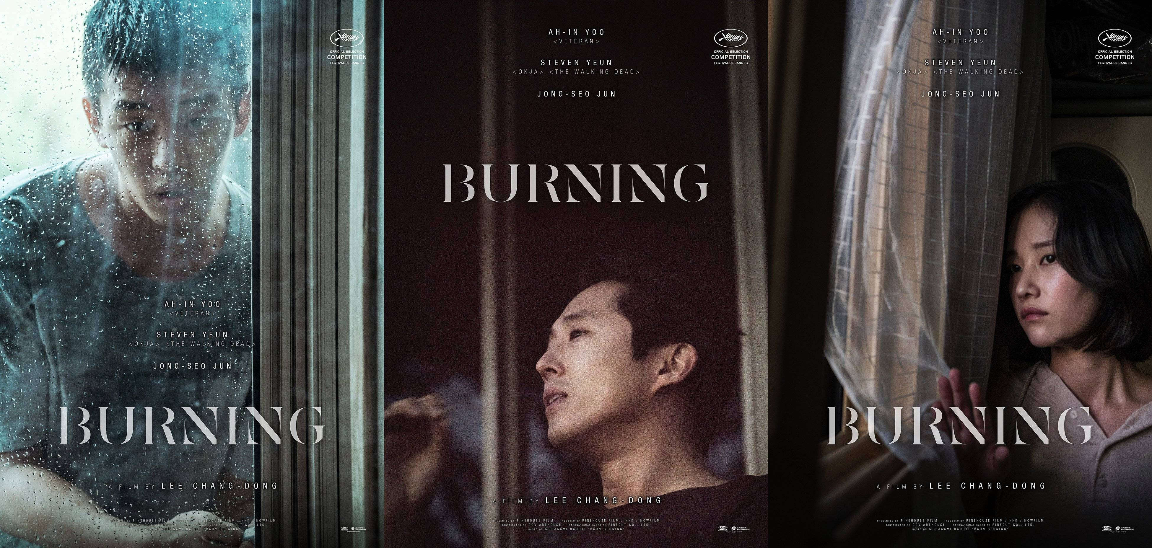 affiches du film burning
