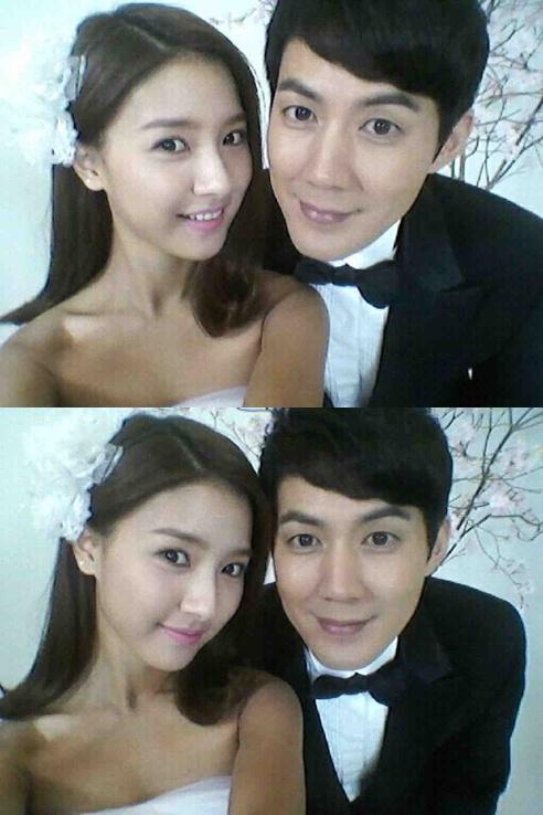 Actress Kim So Eun And Ryu Jin Took A Wedding Picture Together