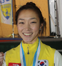 sports climber kim jain won gold in the women s lead at the ninth