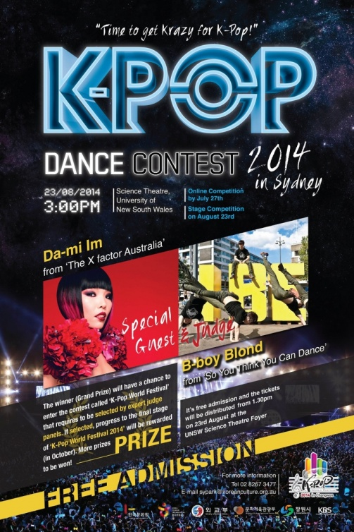 Australia] Free ticket give away for Kpop Contest at UNSW