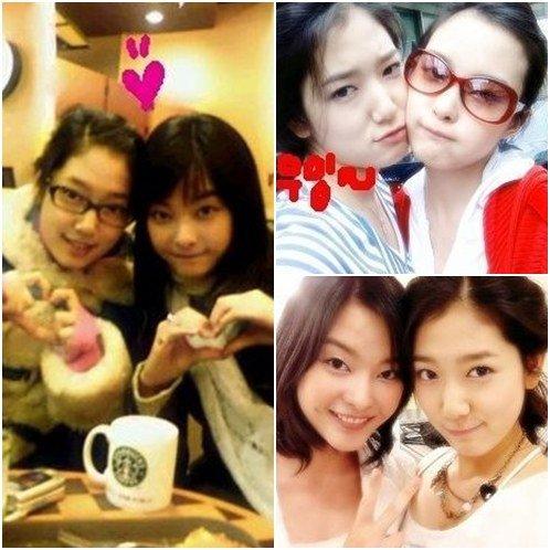 park shinhye and lee eunseongs friendly selfie