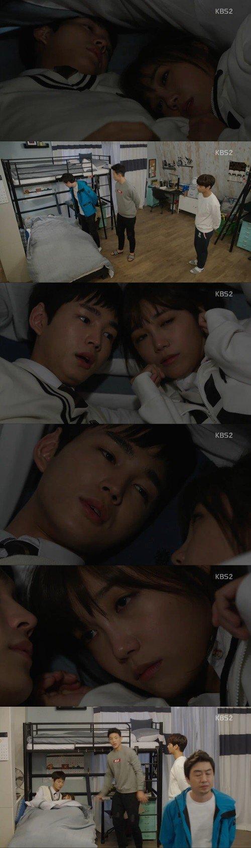 Spoiler] 'Cheeky Go Go' Jung Eun-ji and Lee Won-geun hide under one