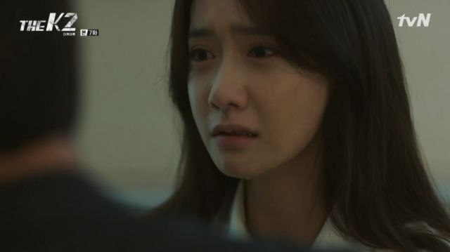 Ahn-na being shocked by her father's words