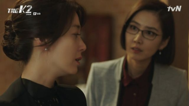Chief Kim warning Yoo-jin about Je-ha's lies
