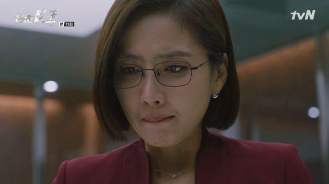 Chief Kim crying due to Yoo-jin's threats