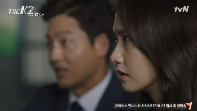 Seong-won and Ahn-na talking to a witness in Hye-rin's case