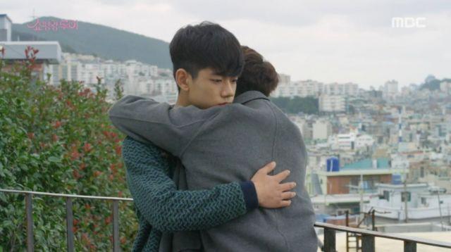 Ji-seong telling Bok-nam he can count on his hyung