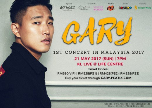 Gary cancels concert in Malaysia