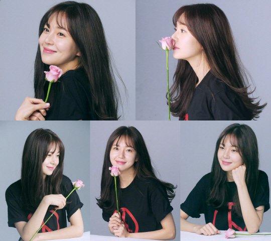 Baek Jin-hee's flowery smile
