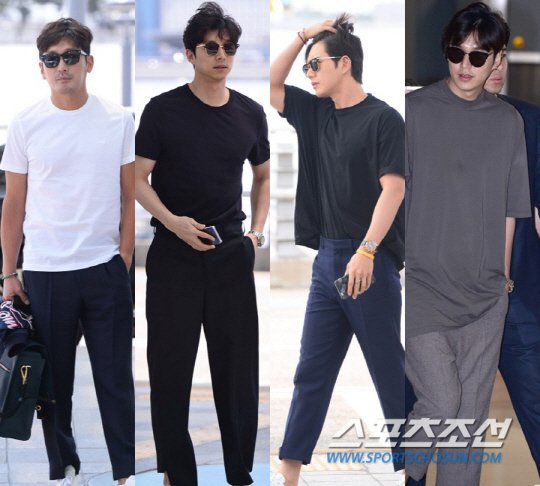 [Photos] Gong Yoo, Ha Jung-woo, Park Hae-jin and Lee Min-ho in short sleeves