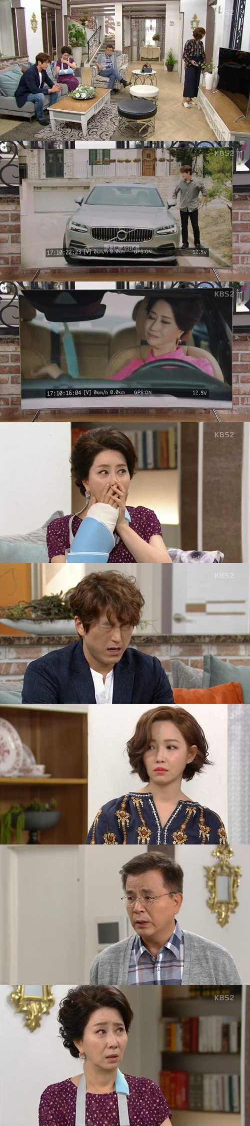 "[Spoiler] ""Father is Strange"" Kang Seok-woo finds out Song Ok-sook is wearing a fake cast"