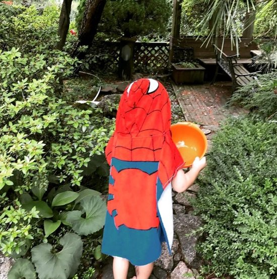 Lee Min-jung releases picture of 'Spiderman' son