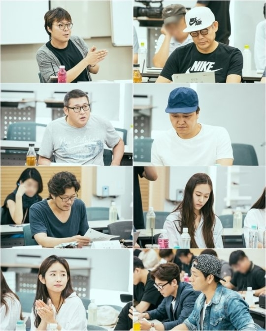 [Photos] Updated cast and added first script reading images for the upcoming Korean drama