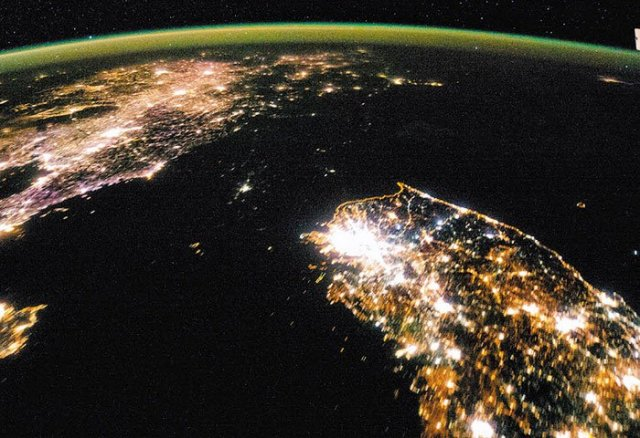 N.Korea Slightly More Electrified Than in Famous Nighttime Photo