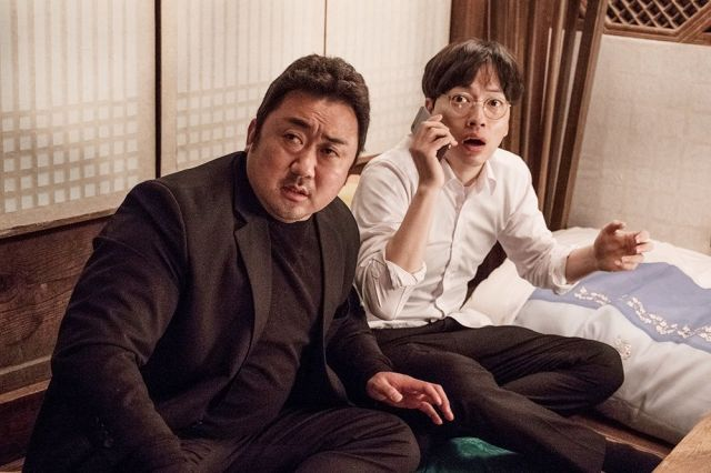 """[Photos + Video] Ma Dong-seok, Lee Dong-hwi, and Lee Honey are goofy in trailer for """"The Bros"""""""
