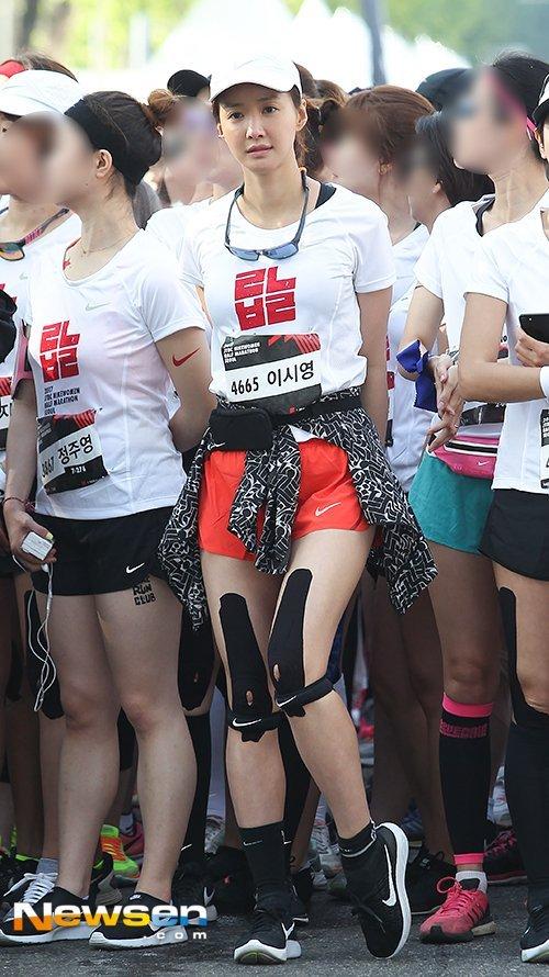 Lee Si-young joins marathon despite pregnancy