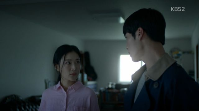 Min-joon confronting Mi-ran at her farm