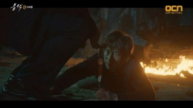 Gwang-gyeon facing the main villain