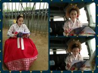 Kim Tae-hee plays with pillow