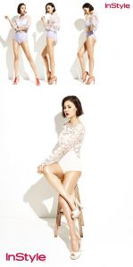 Park Eun-ji's pictorial, 'pant-less and see-through ...